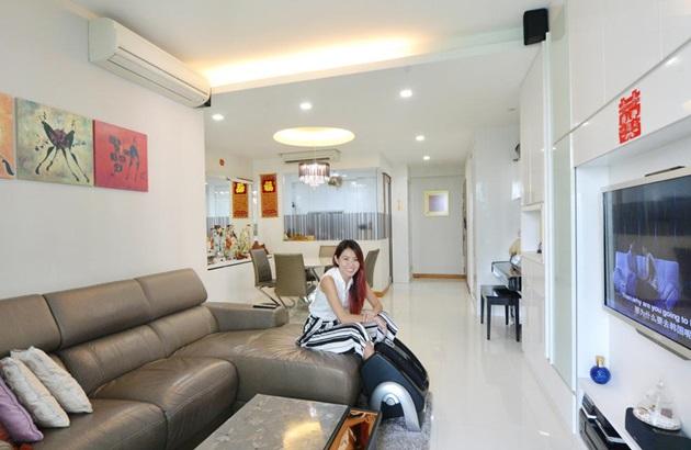 曾住新加坡东,西,北部,郑可为一家四口两年前落脚勿洛蓄水池公寓图片